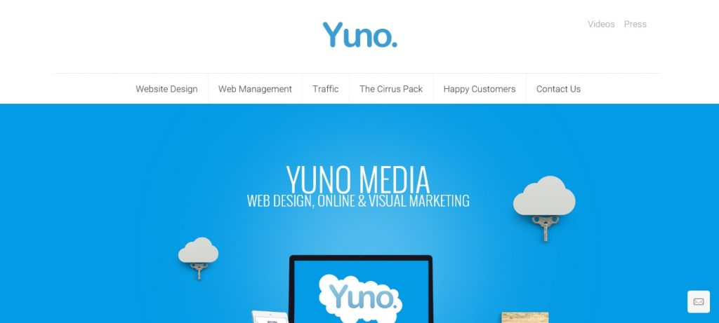 Yuno Media website